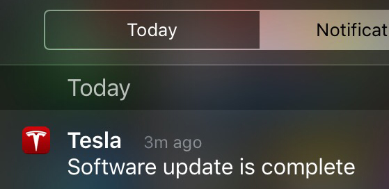 Update notification